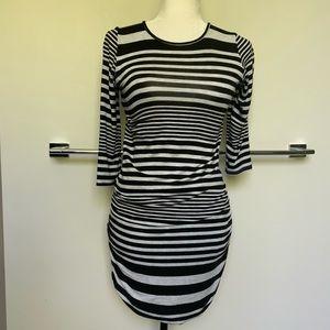 🔥HOT🔥Dolan Striped Black & White T-Shirt, Medium